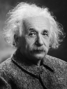 Portrait photograph of Albert Einstein in 1947 by Oren Jack Turner